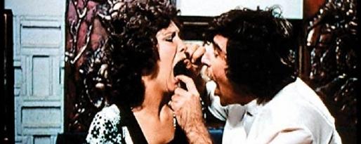 langt ned i halsen i 1972 orgie